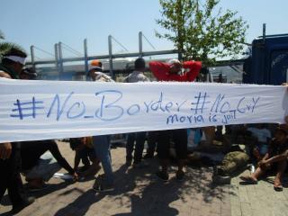 Νέος θάνατος και διαμαρτυρίες μεταναστών στη Μόρια, 23.10.2017 (Translated)